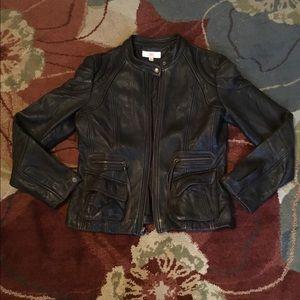 Genuine Leather Moto Jacket Size Small